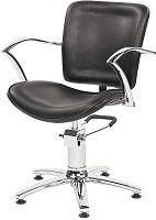 Original Best Buy George V  Friseurstuhl Schwarz mit 5-Stern-Basis